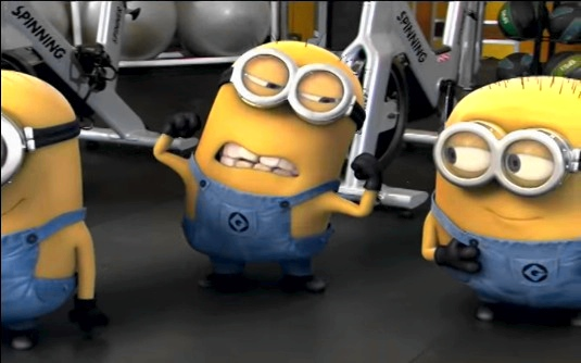 minions-working-out